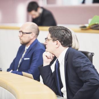 Vorsitzender des Untersuchungsausschusses Reinhold Einwallner (rechts) – er hatte Michael Ritsch (links) in dieser Funktion beerbt.