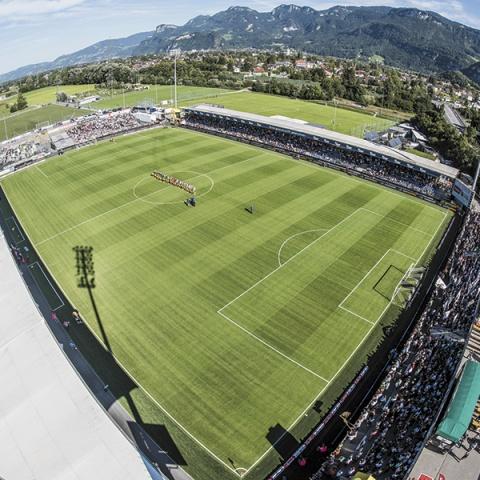 Das Landesstadion Steht In Altach Thema Vorarlberg