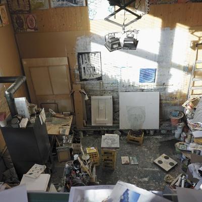 Einblick in das Atelier von Harald Gfader