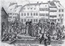 Der Hütekindermarkt in Ravensburg.