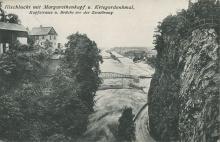 Kapfstraße und Ill-Brücke kurz vor der Zerstörung.