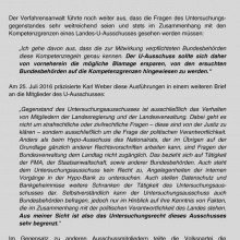"""Karl Webers Brief  vom 20. Juli 2016: """"Mögliche Blamage ersparen."""""""