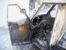 Vandalenakte weist die Kriminalitätsstatistik nicht gesondert aus. Doch die Fälle von Vandalismus nehmen laufend zu. Im Bild zu sehen: ein ausgebranntes Moped-Auto in Bregenz.