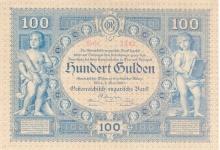 100 Gulden, 1880. Der Gulden war die Währung des Kaisertums Österreich und ab 1867 auch von Österreich-Ungarn. © Geldmuseum der oesterreichsichen Nationlbank
