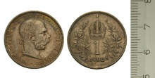 Eine krone, Österreich-ungarn mit Franz Joseph I., 1892. © Geldmuseum der oesterreichsichen Nationlbank